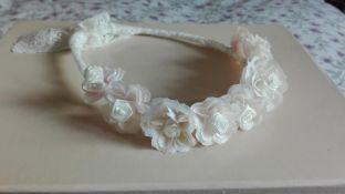 corona blanca encaje valencie