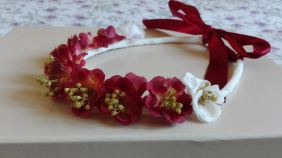 corona flores tela y secas corinto