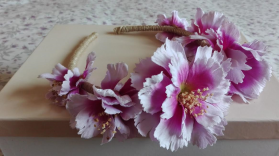 flores grandes con arpillera