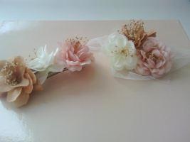 pasador flores cintura tul