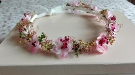 corona flores secas color