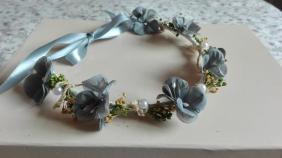 corona gris flores-pistilos y secas