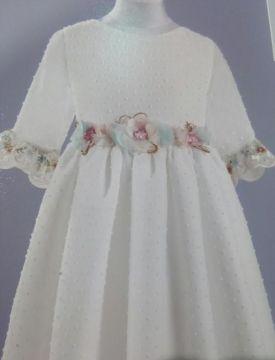 vestido broche pastel